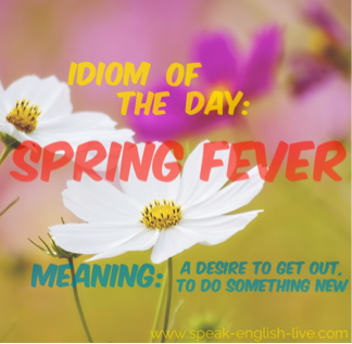 From the archives: Go here http://www.speak-english-live.com/blog/idiom-spring-fever