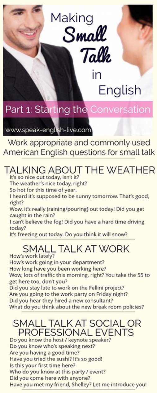 Making Small Talk in English (Part 1): Conversation Starters!