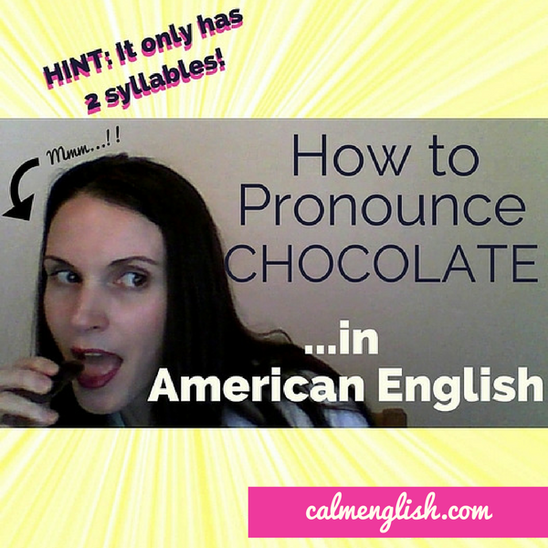The word 'chocolate' orginally came from Spanish (and they even borrowed it from another language!), but when we say 'chocolate' in English it sounds REALLY different from the original languages. ​ You can listen and learn how to say 'chocolate' here in this video. Get more pronuncation tips with my free course: http://www.calmenglish.com/join